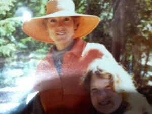 Foto tomada en 1976 durante un viaje al área salvaje del Monte Zirkel, en Colorado. Jennifer tenía 7 años.