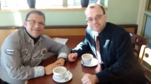 Rihards Dubra y Michael Thallium. Riga, mayo de 2014.