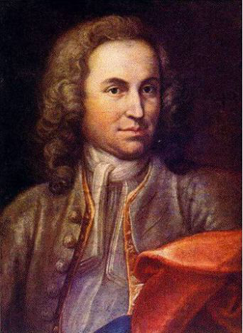 The Young Johann Sebastian Bach, painted in 1715 by J. E. Rentsch, the Elder