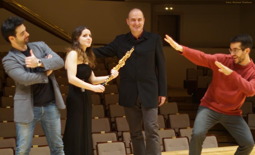 De izquierda a derecha: Pablo Ferrández, Cristina Gómez Godoy, Jesús Torres y Juan Pérez Floristán