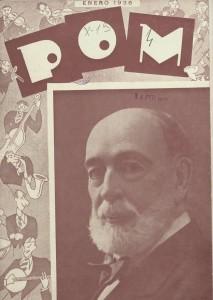 Antonio Zozaya en la portada de POM, 1936.