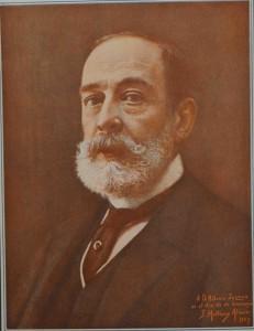 Antonio Zozaya retratado en 1927 por Francisco Martínez Alcover con motivo de su homenaje.