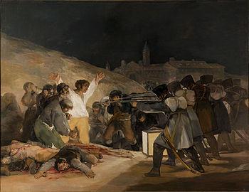 Tres de mayo en Madrid - Goya