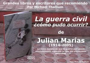 Julián Marías - La guerra civil